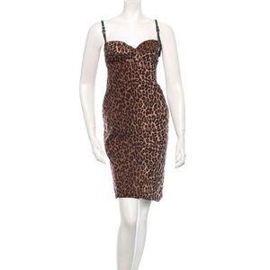 Dolce & Gabbana Leopard Print Midi Dress - XL